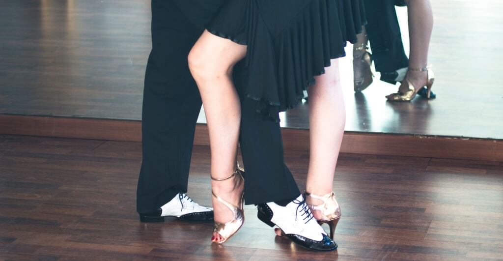 Pair of salsa dance shoes